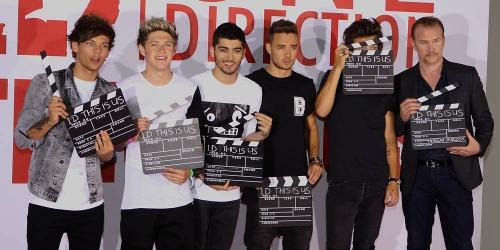 One Direction en la presentación de su película This is Us