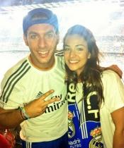 Sonia Walls y Kristian de GH 14 en el Bernabéu para ver al Real Madrid