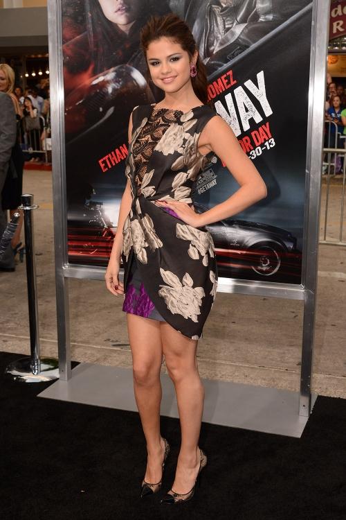 Selena Gomez en la premier de su película Getaway