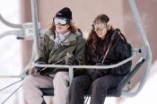 Tatiana Santo Domingo y Andrea Casiraghi disfrutando del esquí