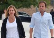 La ex tenista Arantxa Sánchez Vicario en el funeral de Álvaro Bultó