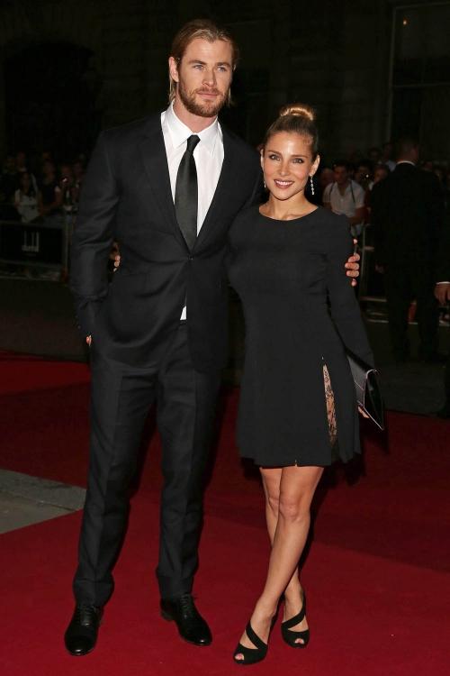 Chris Hemsworth y Elsa Pataky forman una pareja preciosa