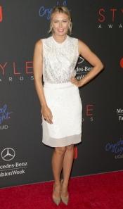 La tenista Maria Sharapova en los premios Style Awards 2013