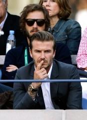 David Beckham disfrutó de la gran final del US Open 2013