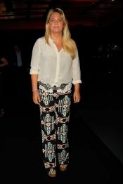 Isabel Sartorius, muy desmejorada, en el desfile de la Madrid Fashion Week