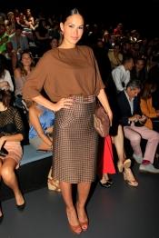 Mireia Canalda no quiso perderse el primer desfile de la Madrid Fashion Week