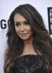 Bonito peinado de la actriz de Glee, Naya Rivera