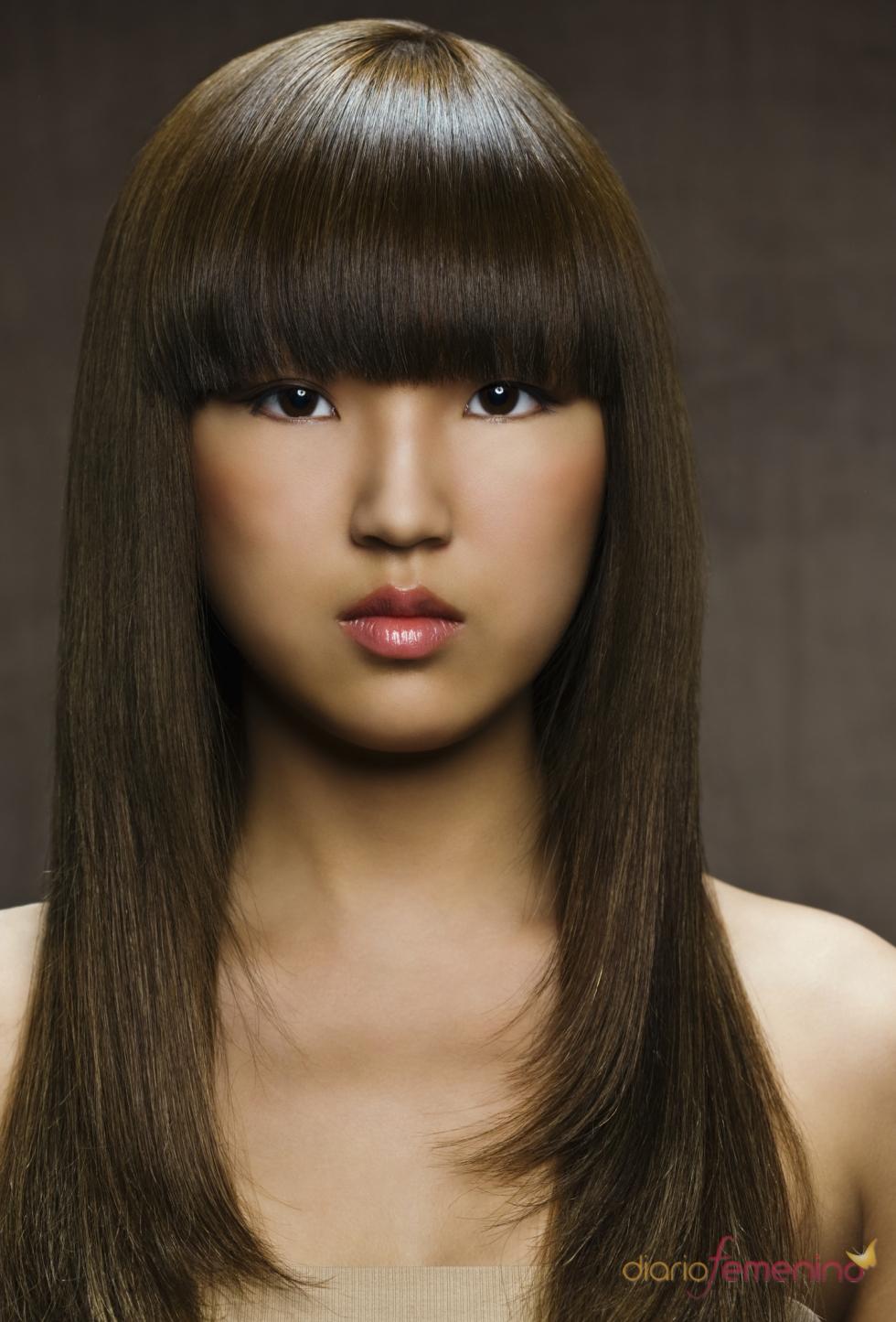 Peinado Con Flequillo Para Pelo Lacio