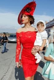 Jessica Bueno junto a su hijo Francisco Rivera