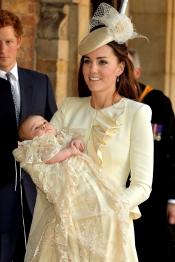 Kate Middleton en el bautizo del Príncipe Jorge