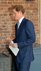 El príncipe Harry en el bautizo de su sobrino, el príncipe Jorge de Inglaterra