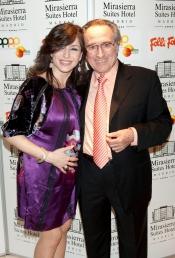 Manolo Escobar junto a su hija Vanessa en los premios 'Naranja y Limón'