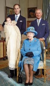 Cuatro generaciones en el bautizo del Príncipe Jorge