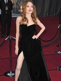 Abertura lateral: vestidos para lucir pierna a lo Angelina Jolie