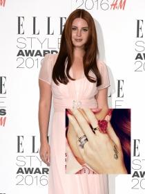 Lana del Rey y otras famosas con tatuajes en la mano