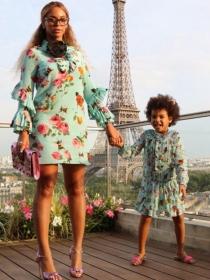 Blue Ivy, Beyoncé y más famosas en la moda con sus hijos