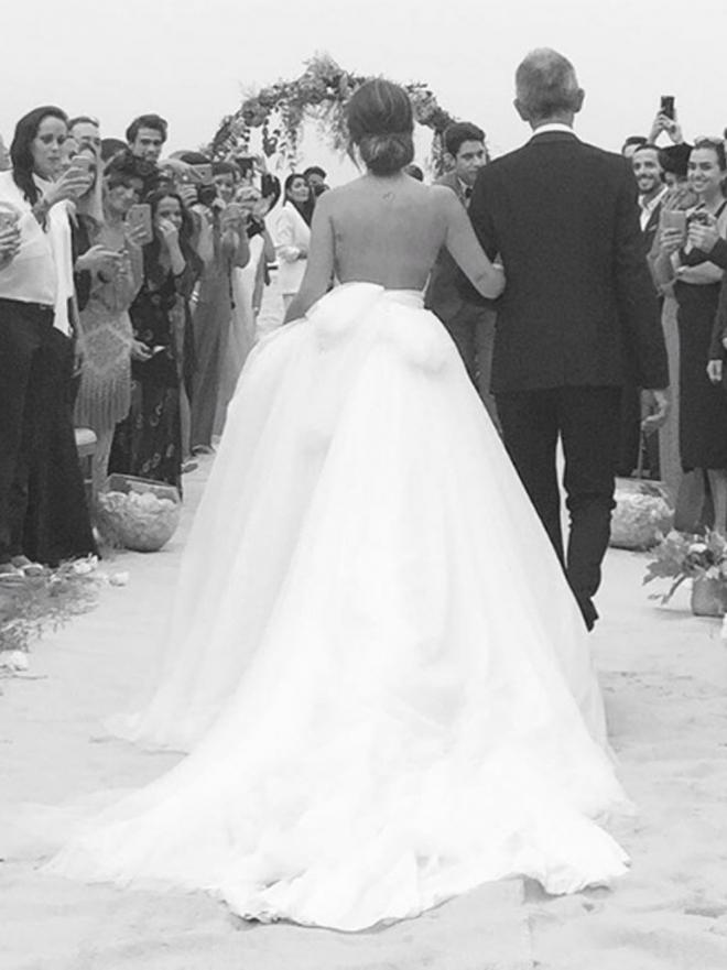 Vestido de novia de dulceida