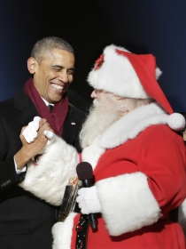 Obama y otros celebrities que adoran a Santa Claus
