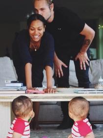 Zoe Saldana y las 12 fotos más tiernas con sus hijos