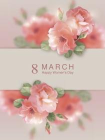 Tarjetas para celebrar el 8 de marzo el Día de la Mujer