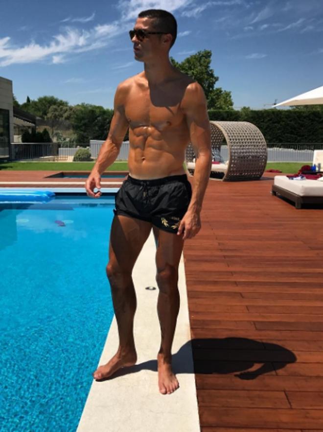 Las fotos más sexys de Cristiano Ronaldo sin camiseta