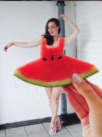 #Watermelondress, el vestido sandía viral en Instagram