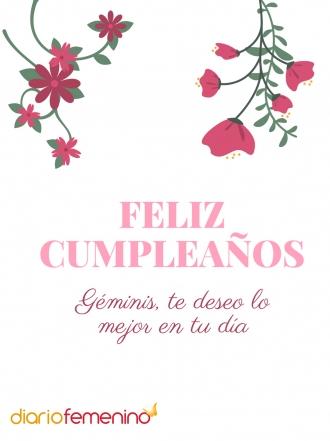 Tarjetas de felicitación para regalarle a Géminis en su cumpleaños