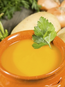 Crema de zanahorias con patatas tempranas
