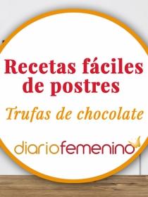 Recetas de postres fáciles: Trufas de chocolate