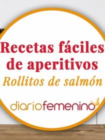 Recetas de aperitivos fáciles: cómo hacer rollitos de salmón y queso muy sencillos