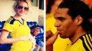 Radamel Falcao celebra el embarazo de su mujer Lorelei Tarón