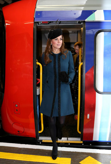 Kate Middleton en el metro.