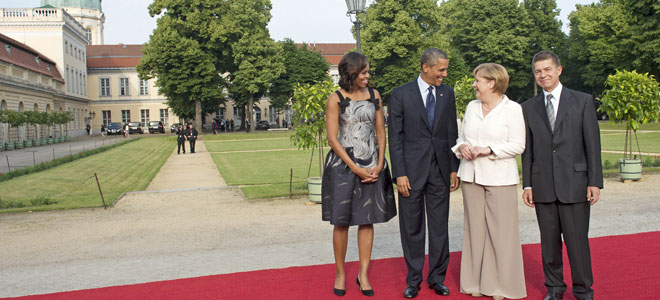 Michelle Obama y Angela Merkel