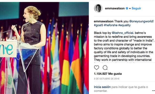El feminismo de Emma Watson