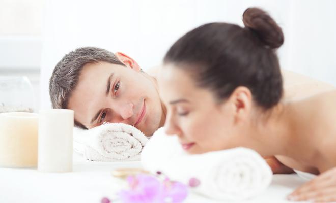 Noche masaje sexo
