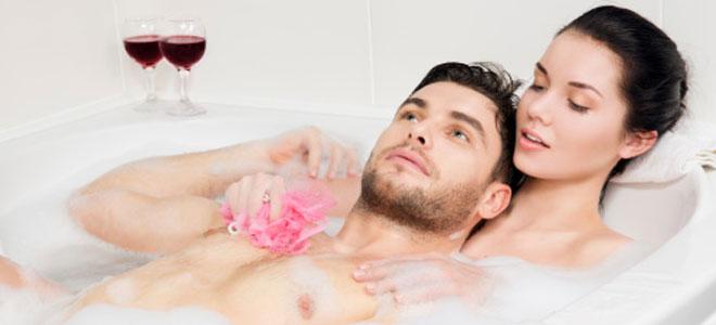 Haciendo el amor baño