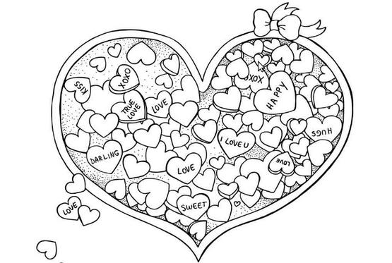 Dibujos romanticos y corazones para regalar en san valentin ...