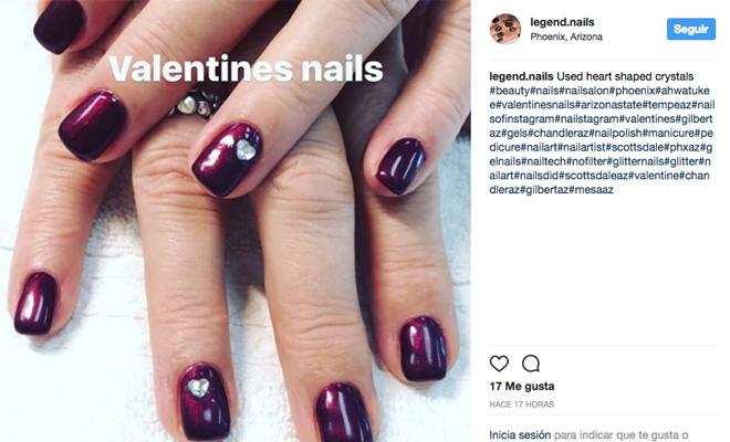 Ideas para hacerte la manicura el 14 de febrero