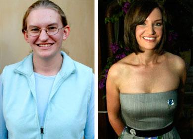 cambio de look radical el antes y el despus de esta mujer