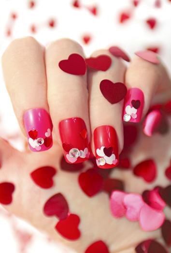La manicura de San Valentín