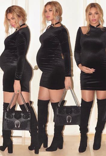 887d468e6 Cómo vestir sexy embarazada al estilo Beyoncé
