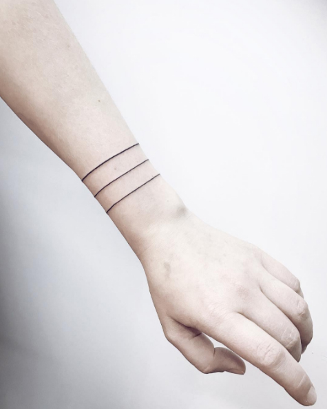 Tatuajes pulsera o brazalete la ltima moda