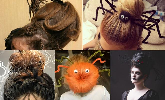 Más de 60 ideas de peinados para Halloween de araña