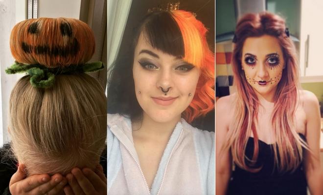 Más de 60 ideas de peinados para Halloween de calabaza