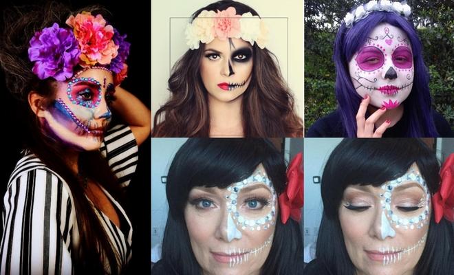 Más de 60 ideas de peinados para Halloween de catrina