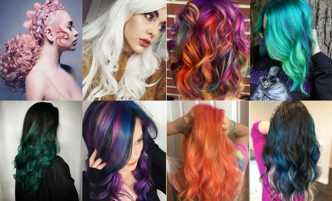 Más de 60 ideas de peinados para Halloween de colores