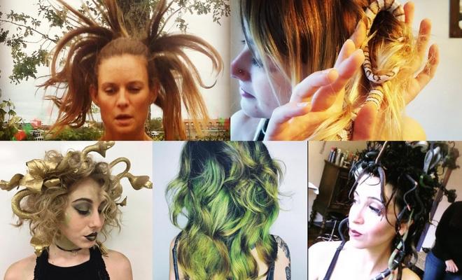 Más de 60 ideas de peinados para Halloween de medusa