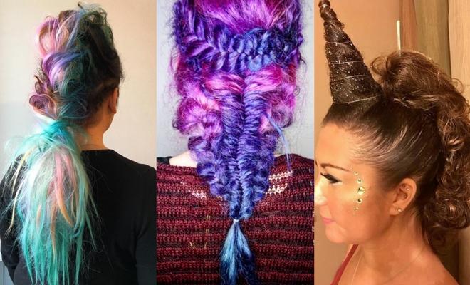 Más de 60 ideas de peinados para Halloween de unicornio