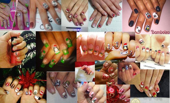diseños uñas navidad