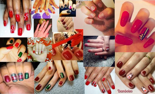 diseño de uñas de navidad sencillos